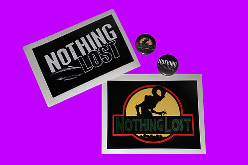 Nothing Lost - Sticker & Button Bundaroo