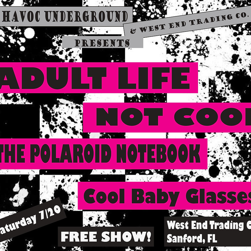 Adult Life, Not Cool, Cool Baby Glasses, TBA