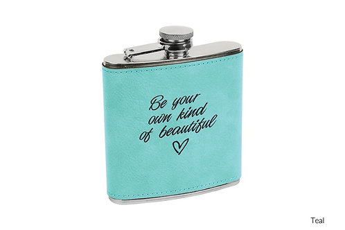 6oz Leatherette Flask