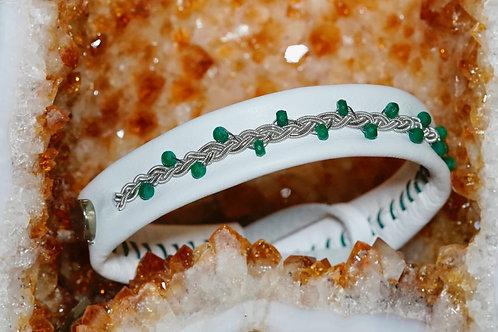 Choker White & Emeralds & Silver