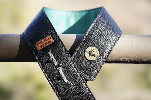 Camera Strap-Tara Kelly-Black & Teal