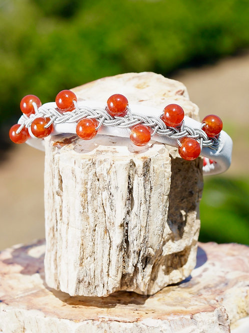 White & Fire Agate Love AR