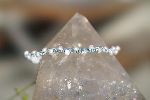 Choker Mermaid Dreams Blue & Pearls