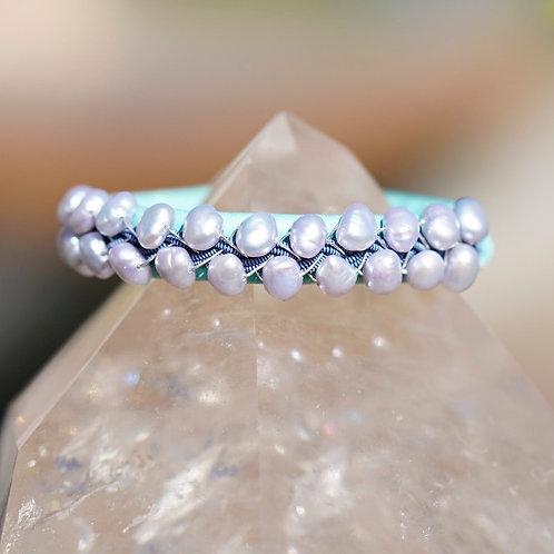 Teal & Pearls & Blue