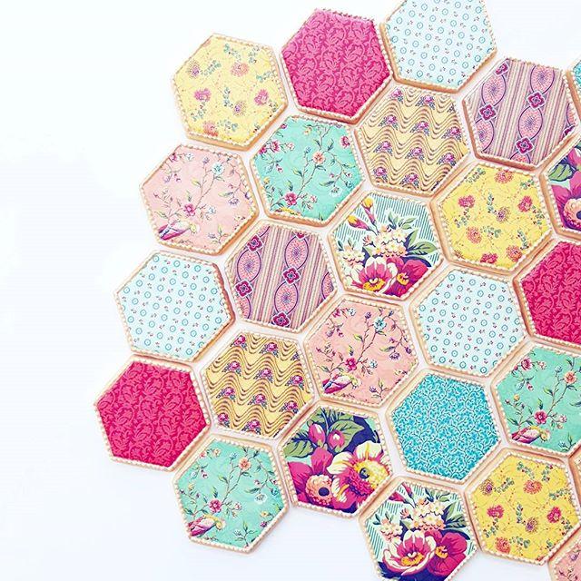 Fabric Hexagons