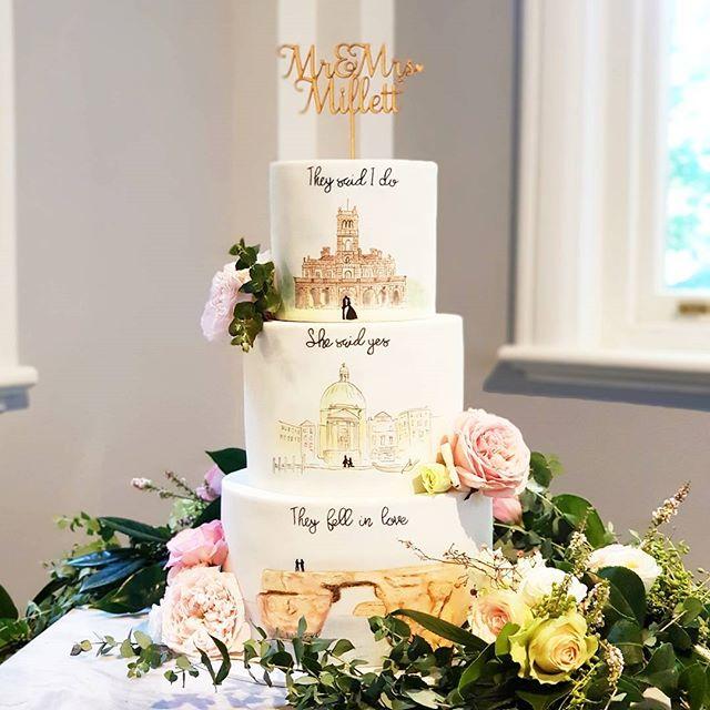 Mr & Mrs Memories Cake