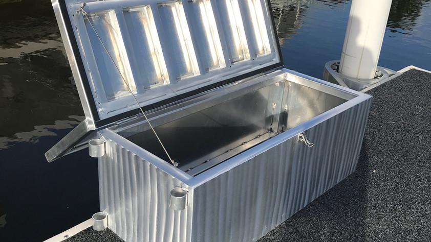 Pontoon Storage Bench Set (open)