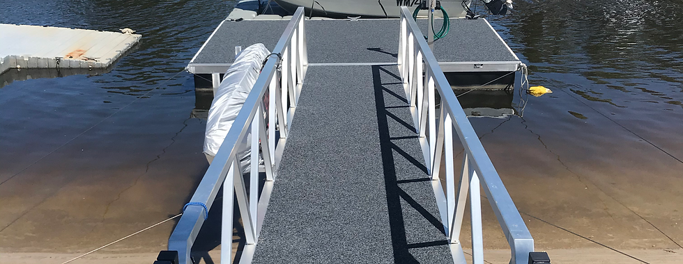 Cable Brace Pontoon w/ Dry Berthing System