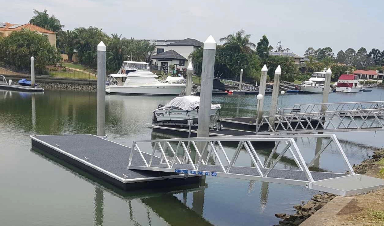 Double Pile Finger Pontoon