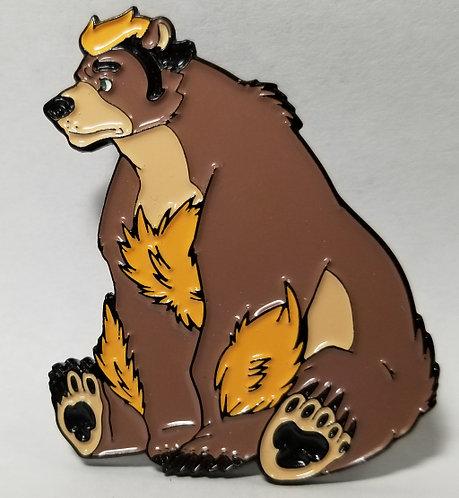 Bear Harold Enamel Pin