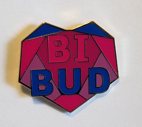 Bi Bud Hard Enamel Pin