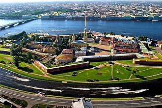 aerial-view-the-peter-and-paul-fortress-
