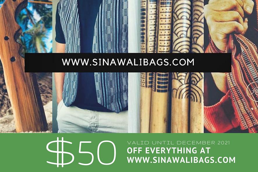 Sinawali - GIFT CARD 50$