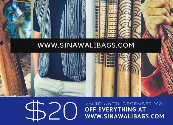 Sinawali - GIFT CARD 20$