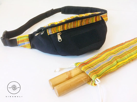 Sinawali FMA Stickbag CROSSBODY - YELLOW Yakanseries