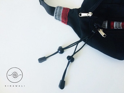 Sinawali crossbody with option to attach StickSock stick bag that can hold a pair of FMA rattan sticks, used in Filipino Martial Arts of Kali Arnis Escrima