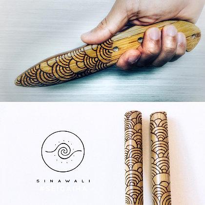 FMA Training Gear :: Sinawali Baston y Daga set [custom artwork]