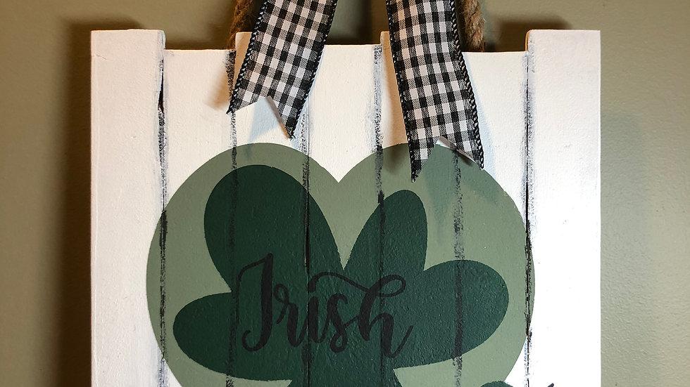 Irish At Heart hanging sign