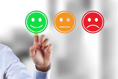 Customer survey feedback, a customer rat