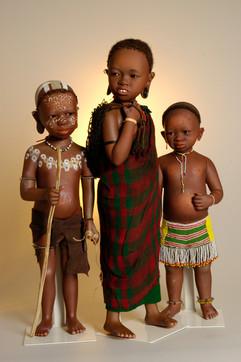 Hagos, Abeda en Aisha komen uit Ethiopië • Hagos, Abeda and Aisha are from Ethiopia