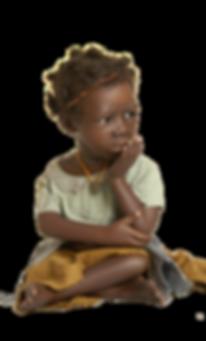 Wereldkinderen van porselein