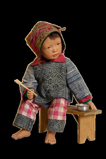 zelf een pop maken via poppenstee