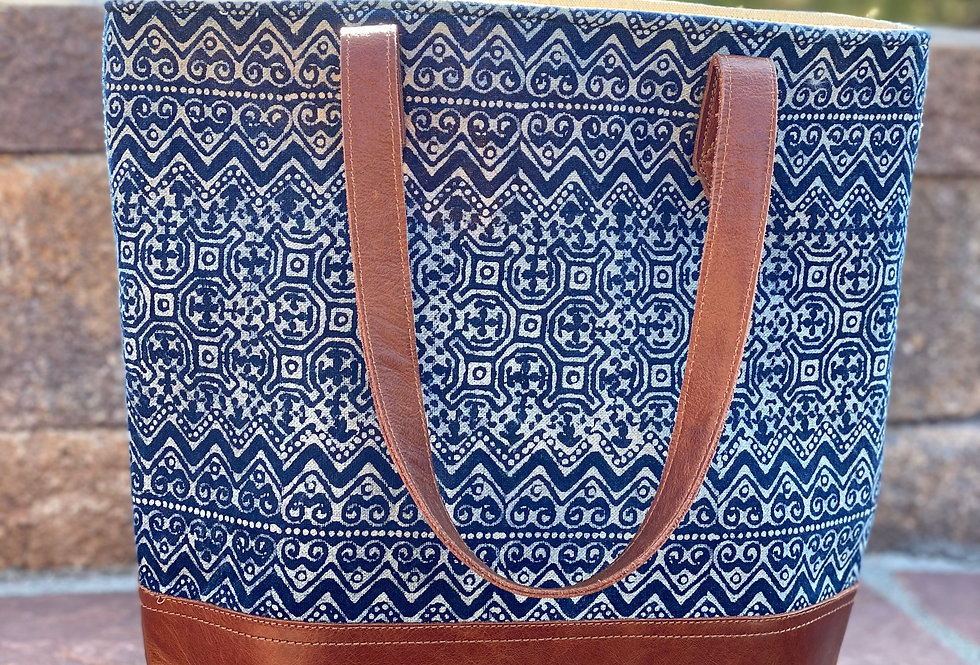 Stamped Hmong Tote Bag