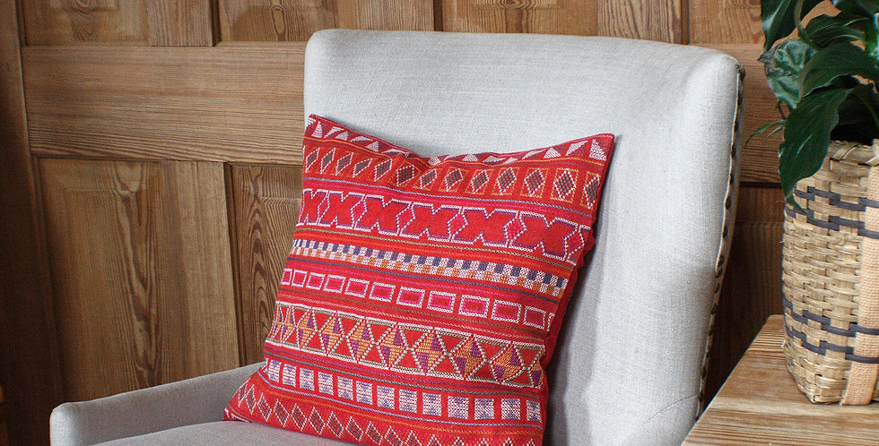 Hand Stitched Akha Throw Pillow