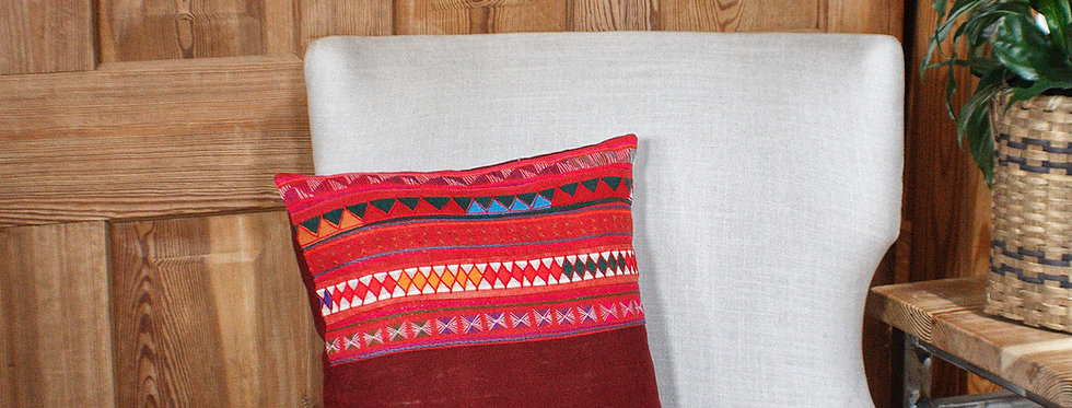 Akha Hand Stitched Throw Pillow