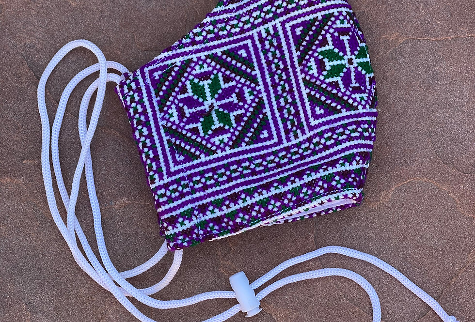 Purple Women/Teen Hmong Woven Mask