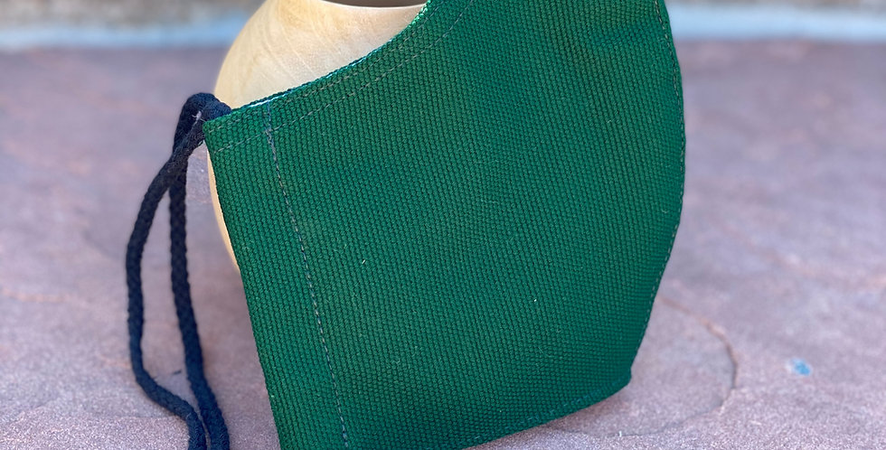 Green Men's Plain Woven Mask