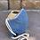 Thumbnail: Light Blue Women's Plain Woven Mask