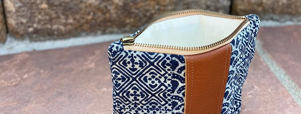 Hmong stamped cosmetic bag - Medium