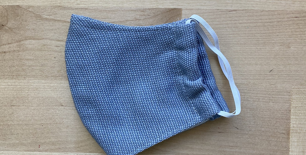 Light Grey Children's (3-5yrs) Plain Woven Mask