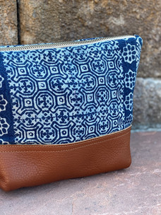 Hmong Stamped Cosmetic Bag