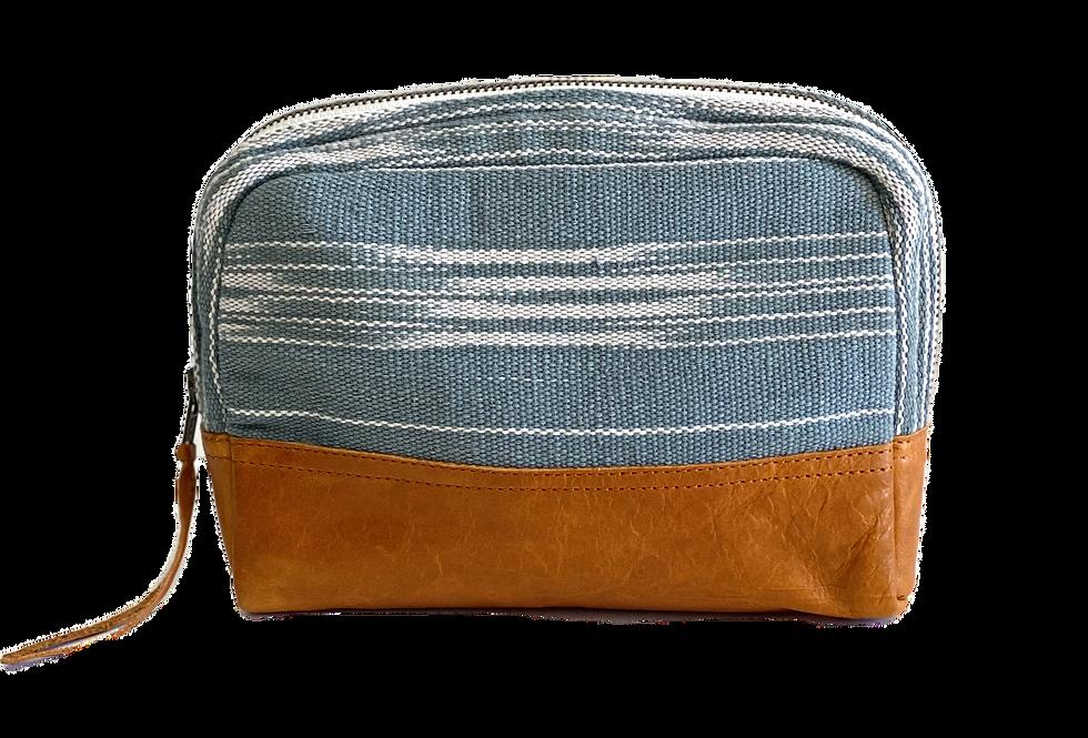 Medium Cosmetic Bag - Teal Brushstrokes