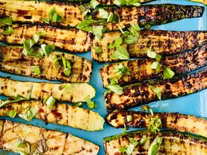 Grilled marinated Zucchini