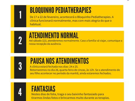 Calendário de Carnaval Pediatherapies
