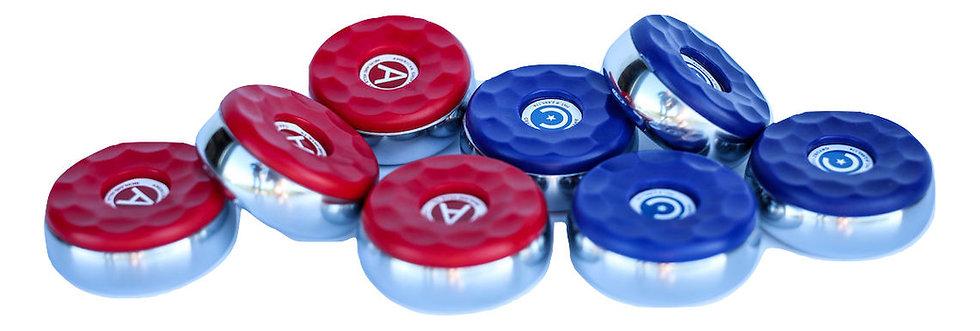 Puck set (4 red & 4 blue)