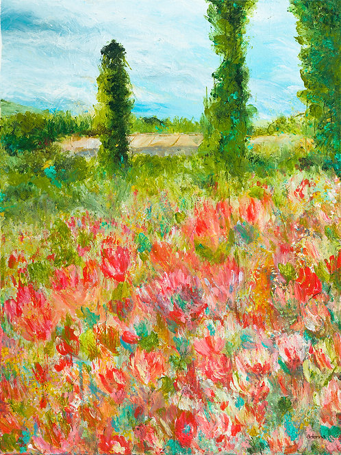 """Glory in the Garden"" Original Art 18"" x 24"""