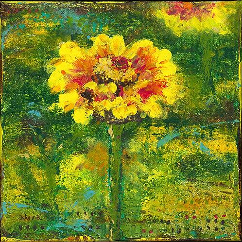 """""""Sunflower"""" Notecard 5"""" x 5"""""""