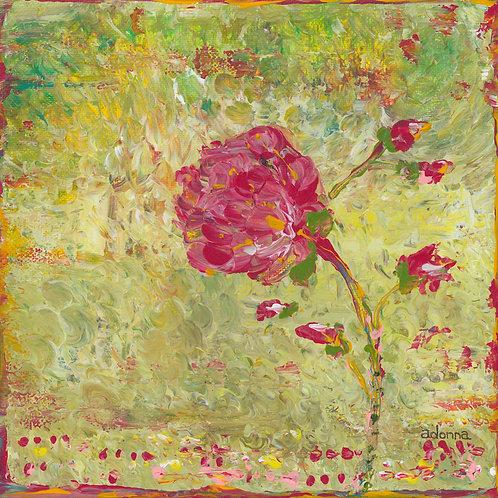 """""""Pink Blossom"""" Original Art 8"""" x 8"""""""