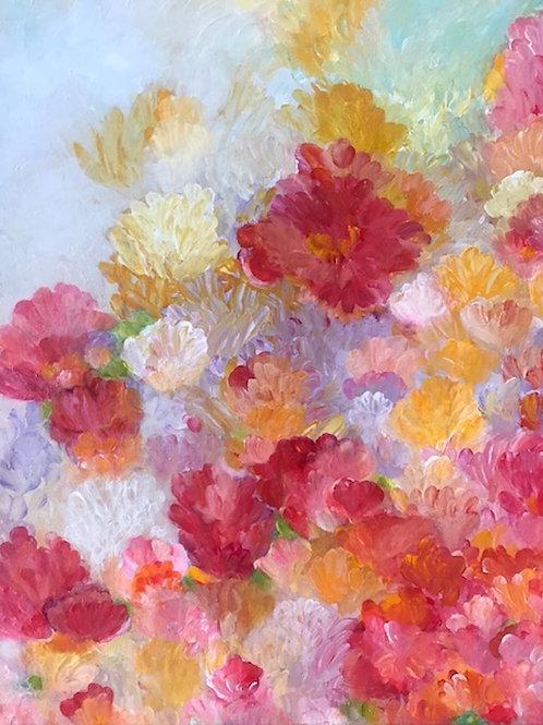 """""""Dreamy Blossoms"""" Original Art 18"""" x 24"""""""