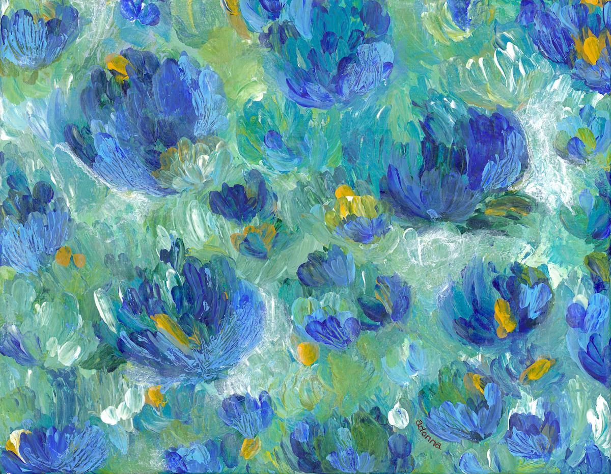 abstract flower art Adonna thousand oaks