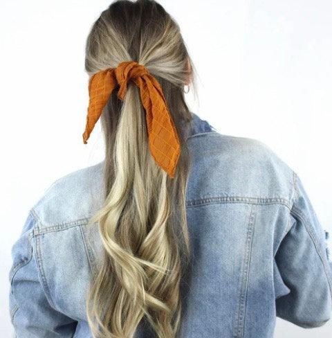 Chou foulard / rouille gaufré