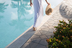 Walking by the pool