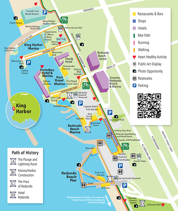King Harbor Association walking map