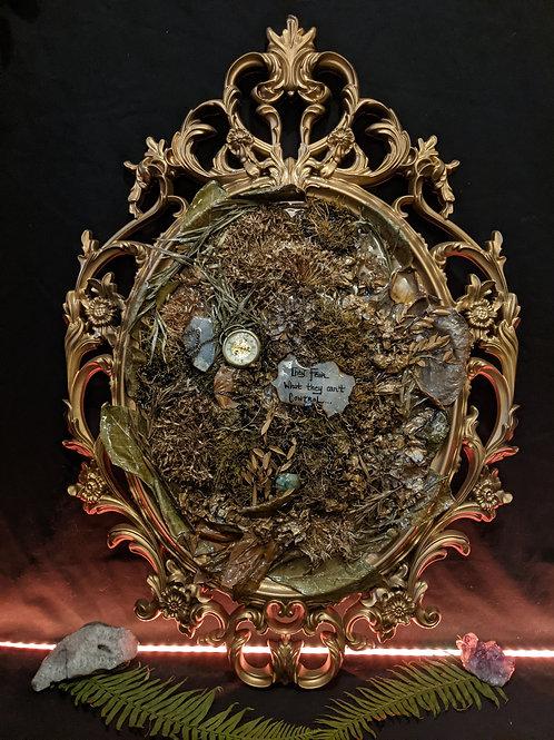 Reckoning - Resin casted floral frame