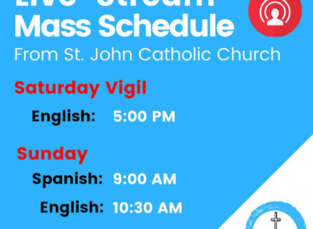 St. John's Offers Live-Stream of Weekend Masses