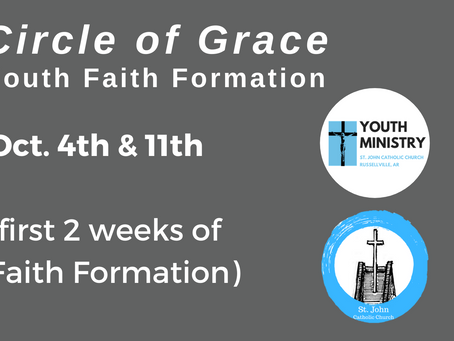 """Circle of Grace"": Youth Faith Formation for First Two Weeks"